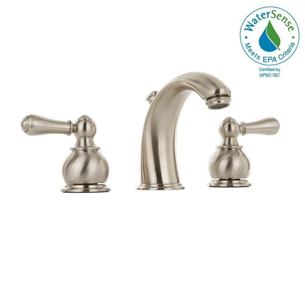 american standard hampton 8 in widespread 2 handle mid arc bathroom rh pinterest com