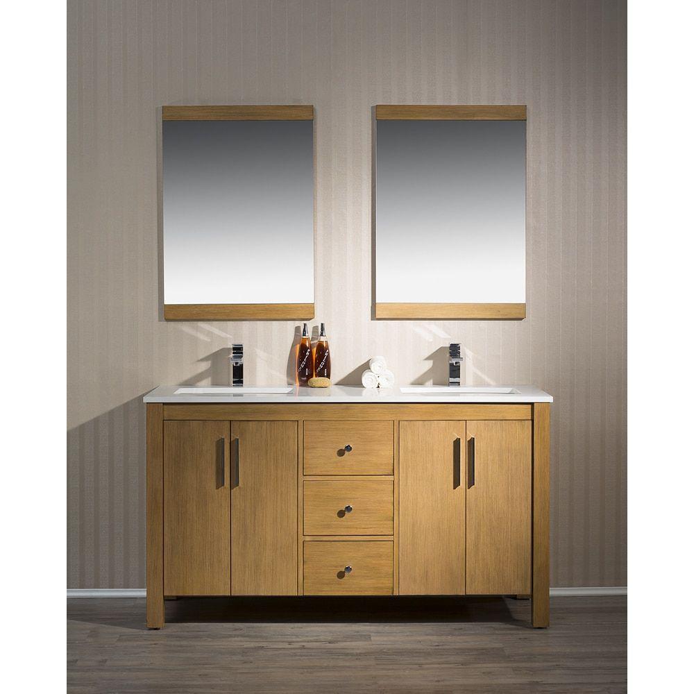 Stufurhome Windsor 59 Inch Double Sink Bathroom