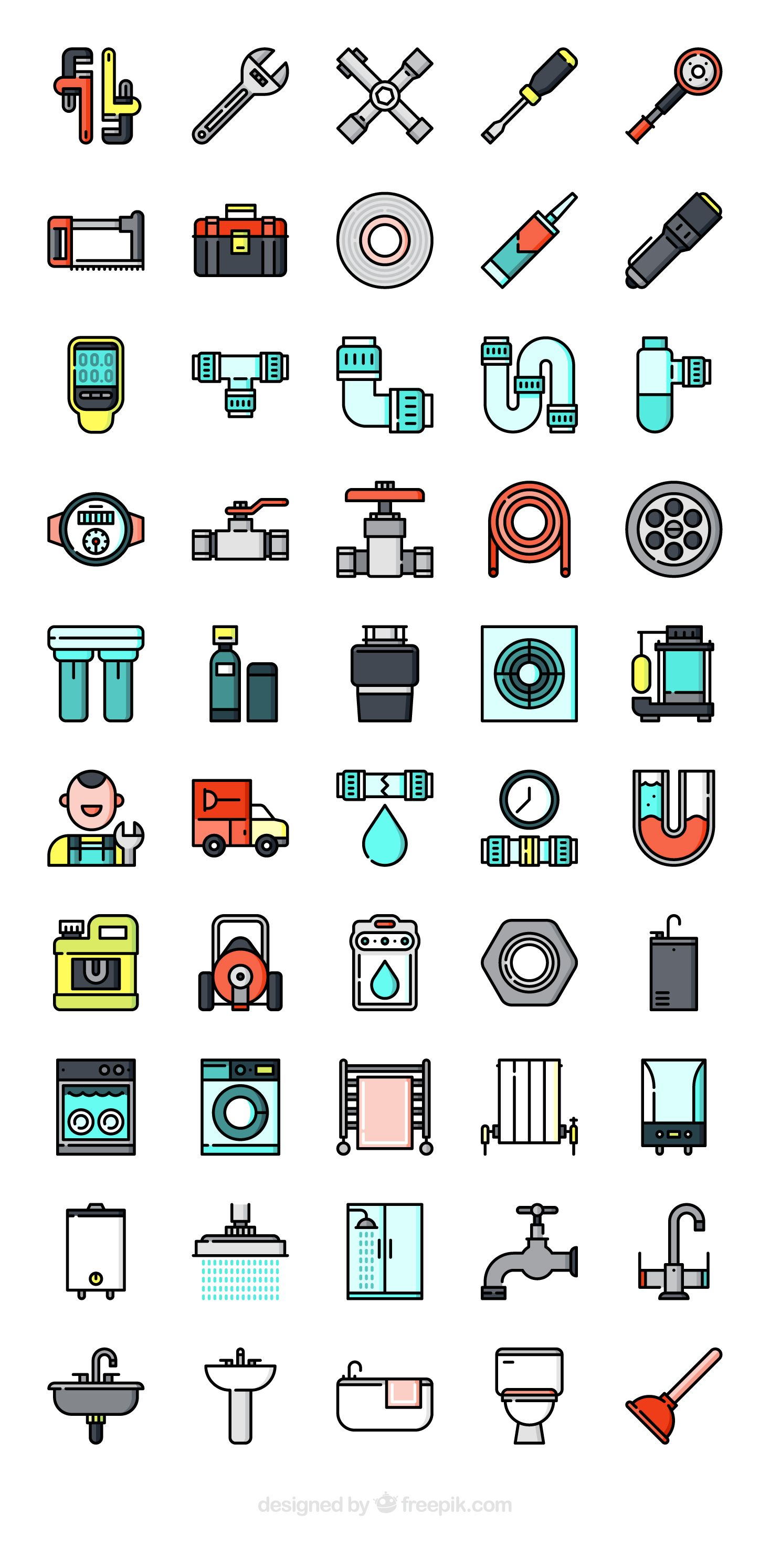 50 free vector icons of Plumber tools and elements