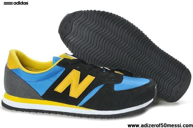 New Balance NB 420 Black Blue Grey Yellow Mens Sneakers
