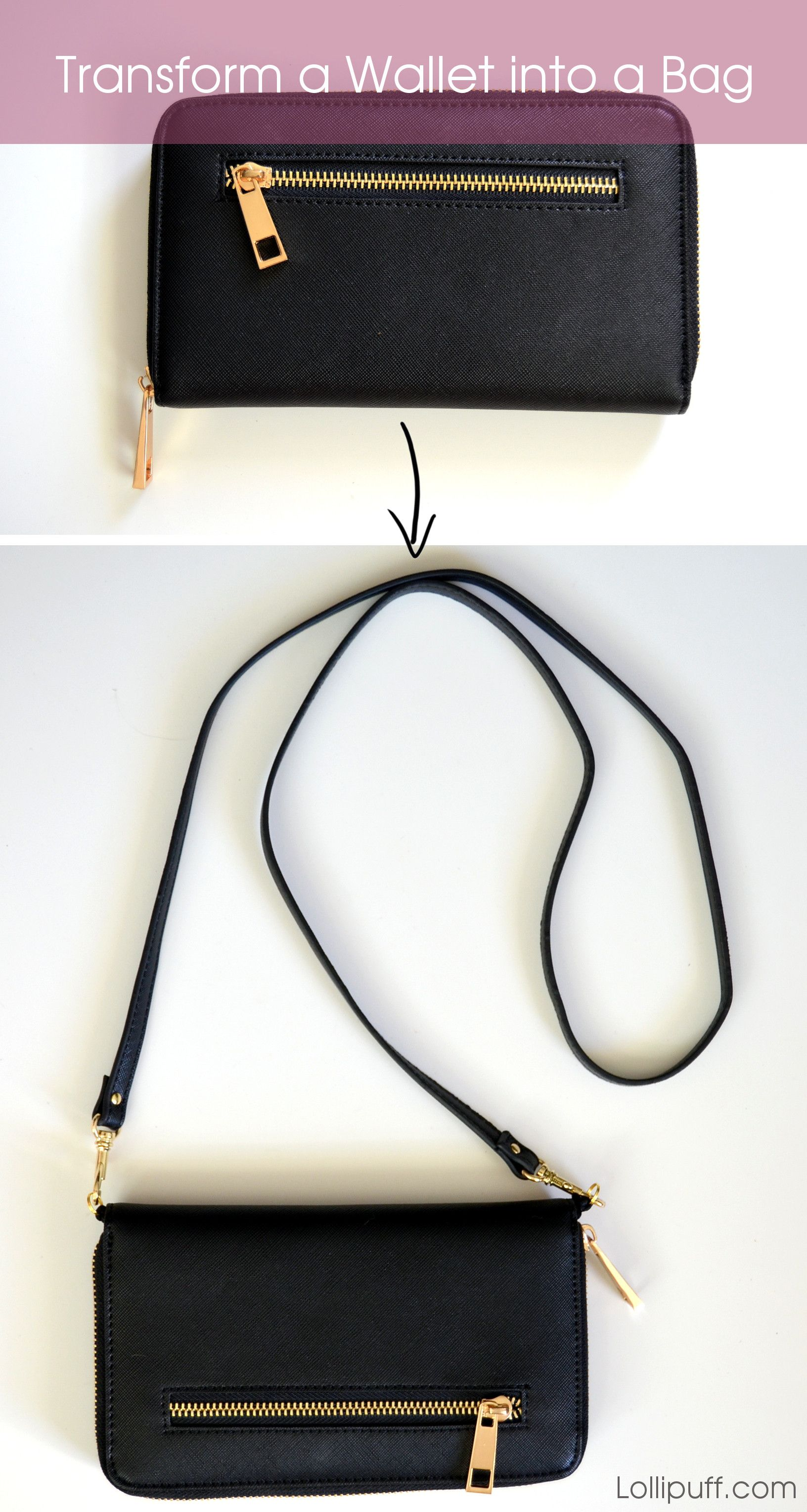 How To Add Shoulder Straps A Wallet
