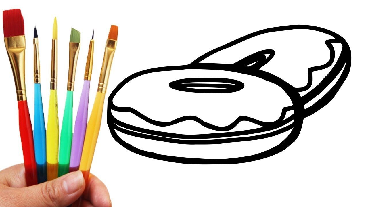 How to Draw Donuts for Kids - Donuts coloring Pages for Children ...