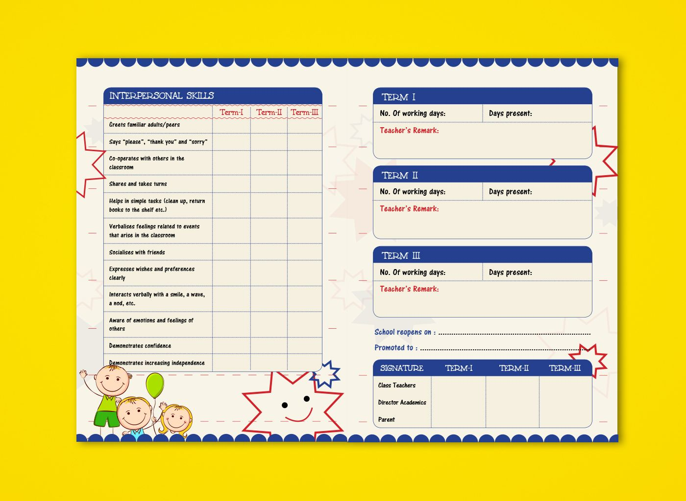 montessori report card template.html