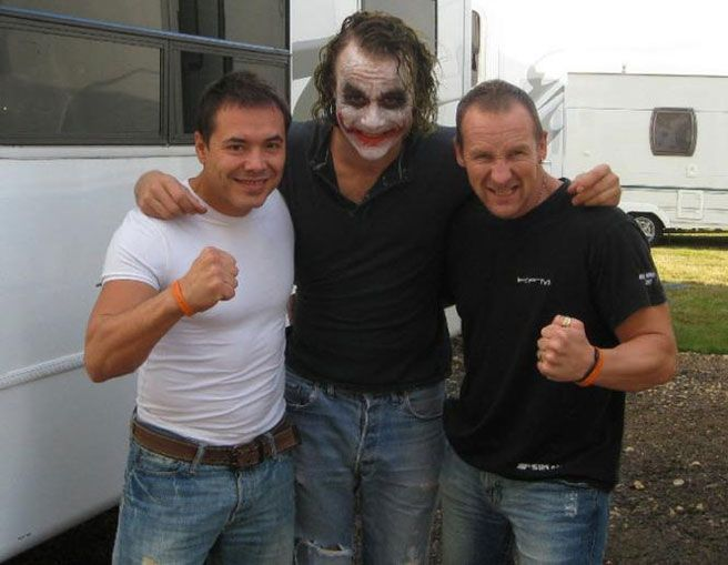Heath Ledger BTS as the Joker 1