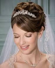 wedding updo with tiara and veil -
