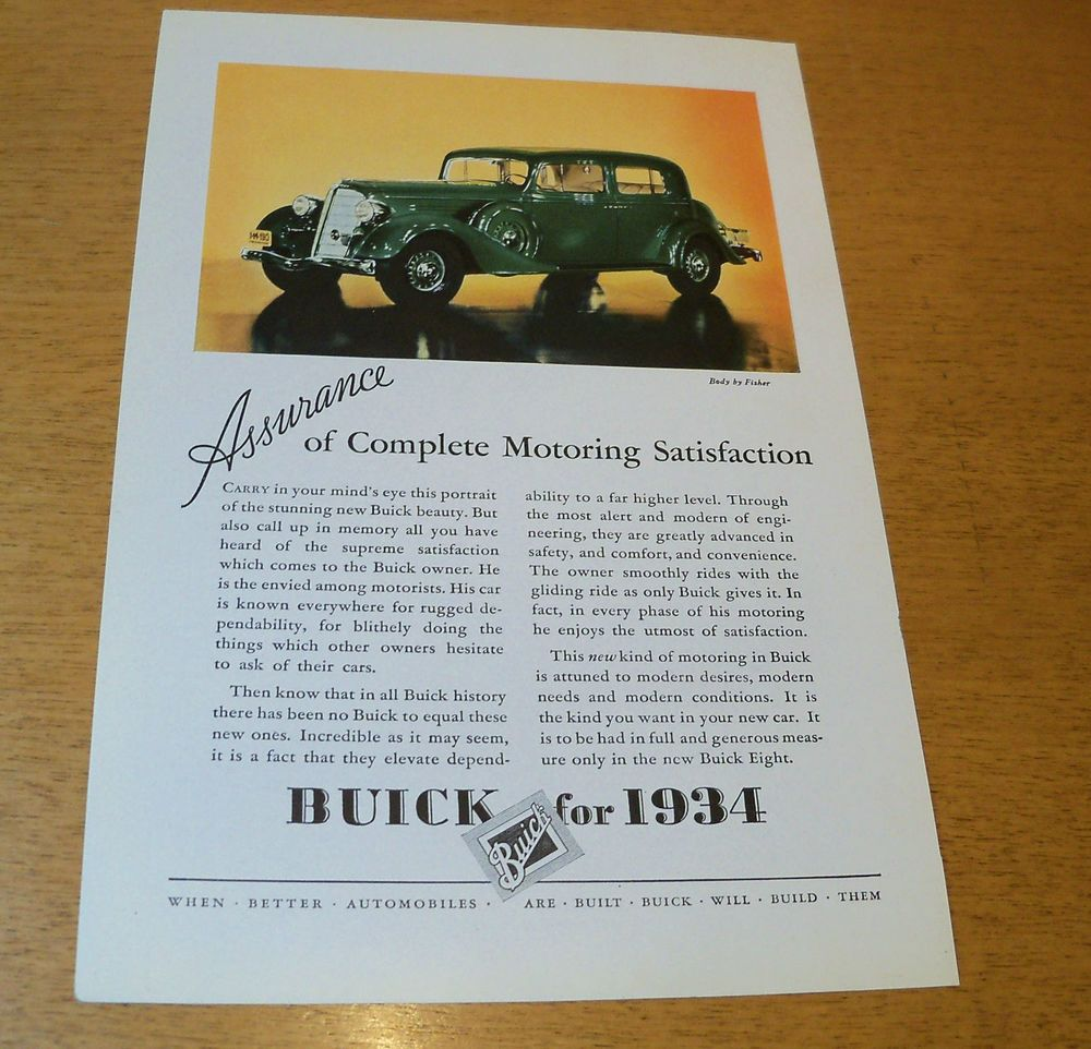 US 14.00 Used in Collectibles, Paper, Other Car ads