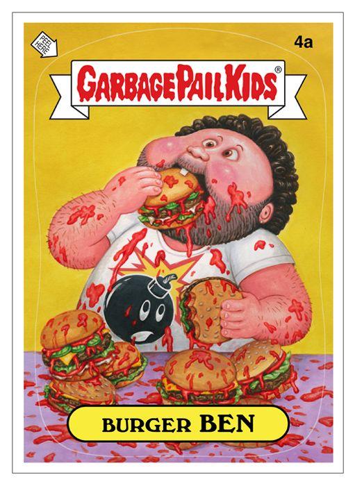 Pin By Henry Perez On Burger Art Garbage Pail Kids Garbage Pail Kids Cards Kids Stickers