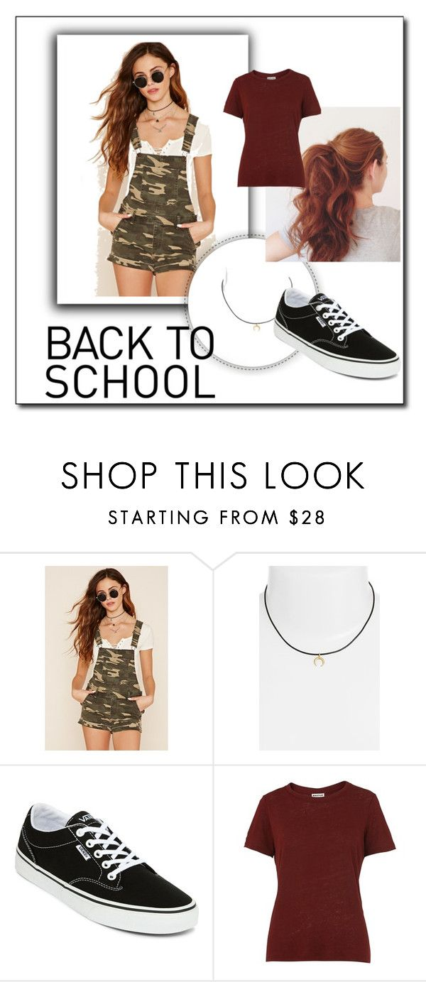 """Go back to school in style !"" by triceyfashion ❤ liked on Polyvore featuring Forever 21, Dogeared, Vans, Whistles and fovever21"