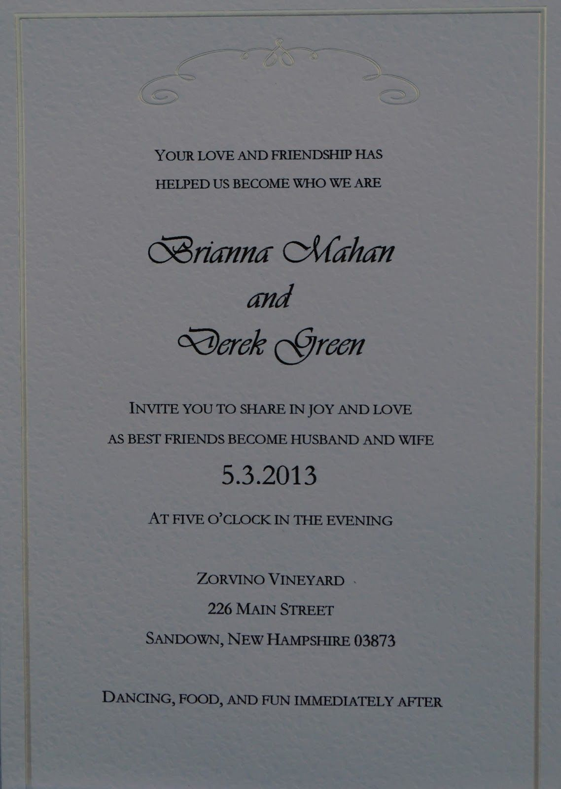 wedding invitation wording with no reception%0A  Wedding  invitation  wording  Alternative wording options