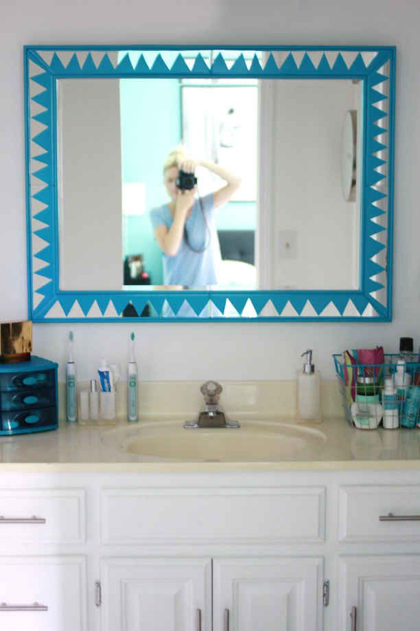 glam up your mirror with paint trying times mirror painting rh pinterest com