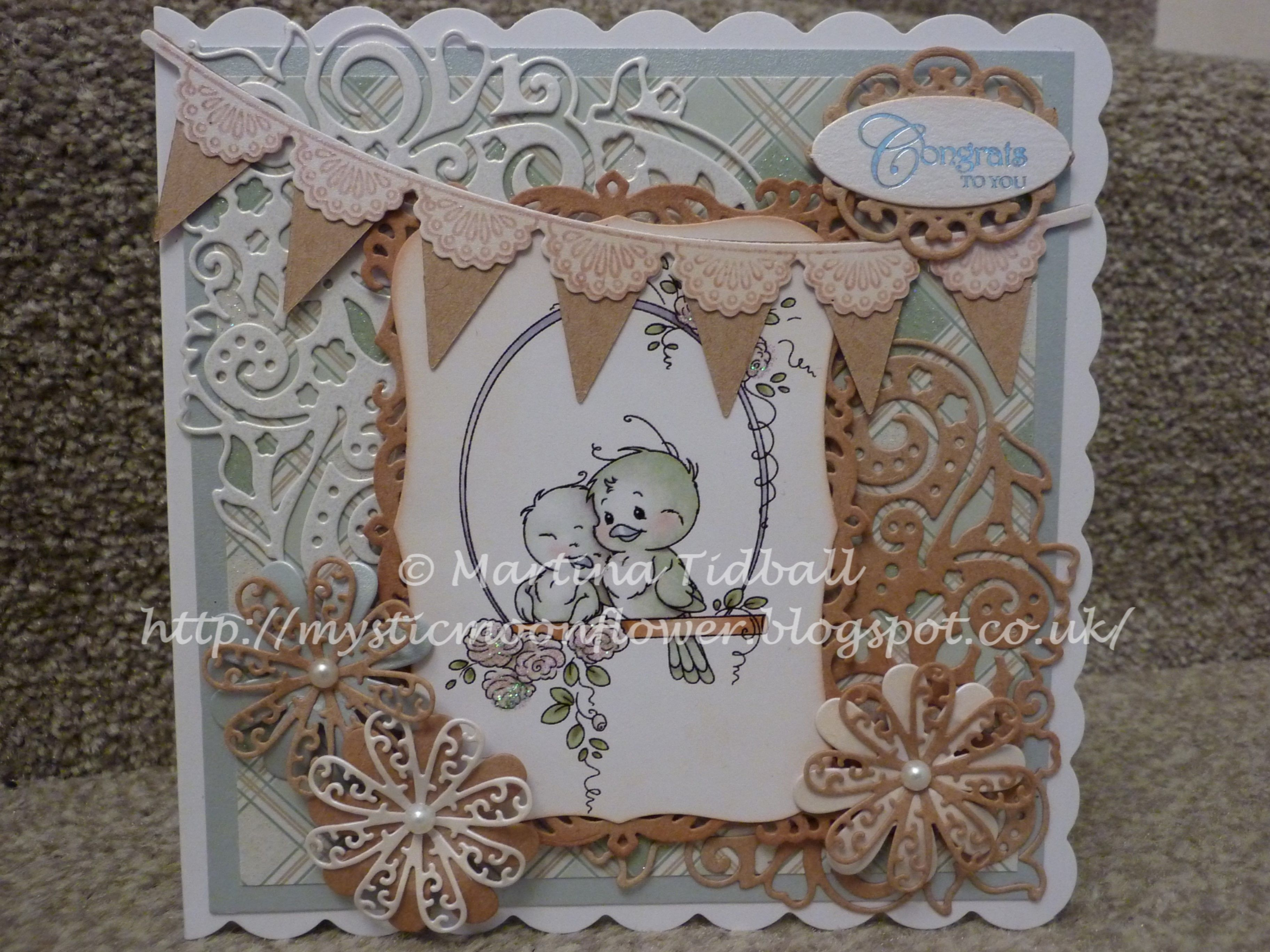 brown card for wedding invites%0A Hobby House Topper  Wedding Card  Tattered Lace Dies  Tattered Lace  Flowers  Lacey