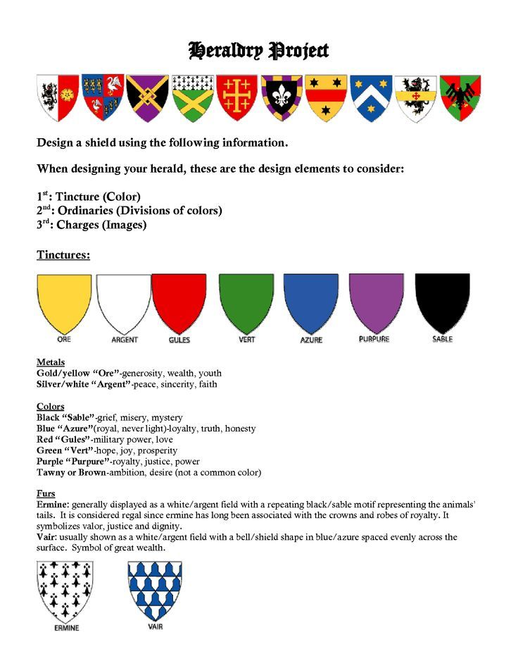 Heraldry Meanings Of Colors And Symbols Vivostar