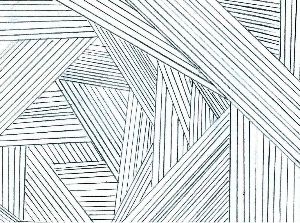 This Piece Of Art Represents The Aspect Of Straight Line