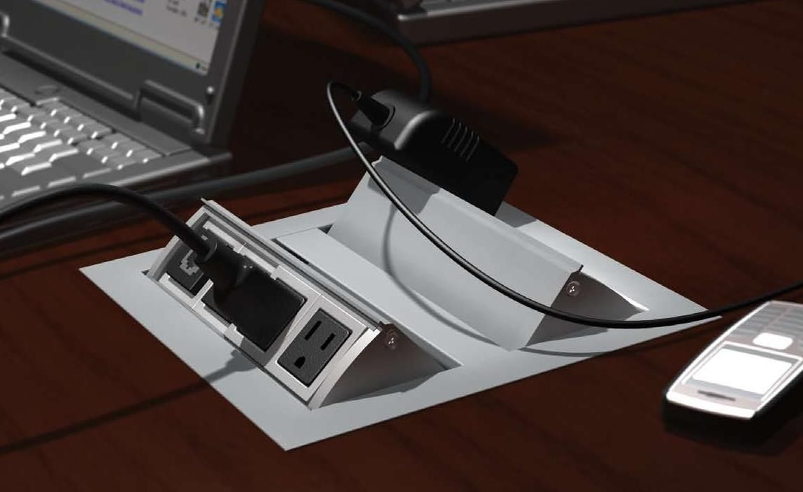 Wow Electric Outlets Usb Charging Video And Data Modules Enhance Your Work Surface