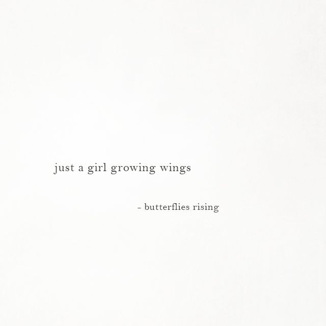 just a girl growing wings
