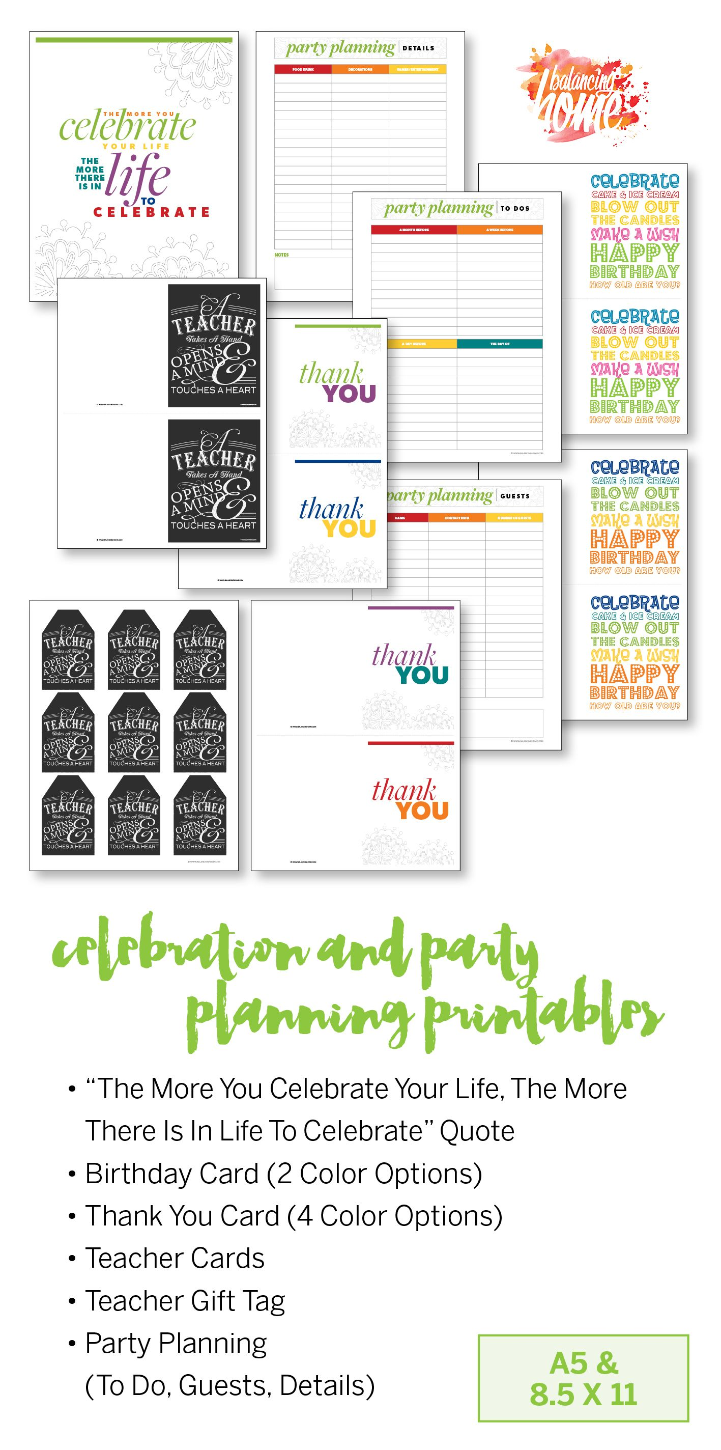 Get organized with this planner and all the printables balancing