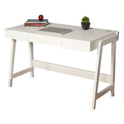 mercury row darling parsons tech solid wood computer desk products rh pinterest com