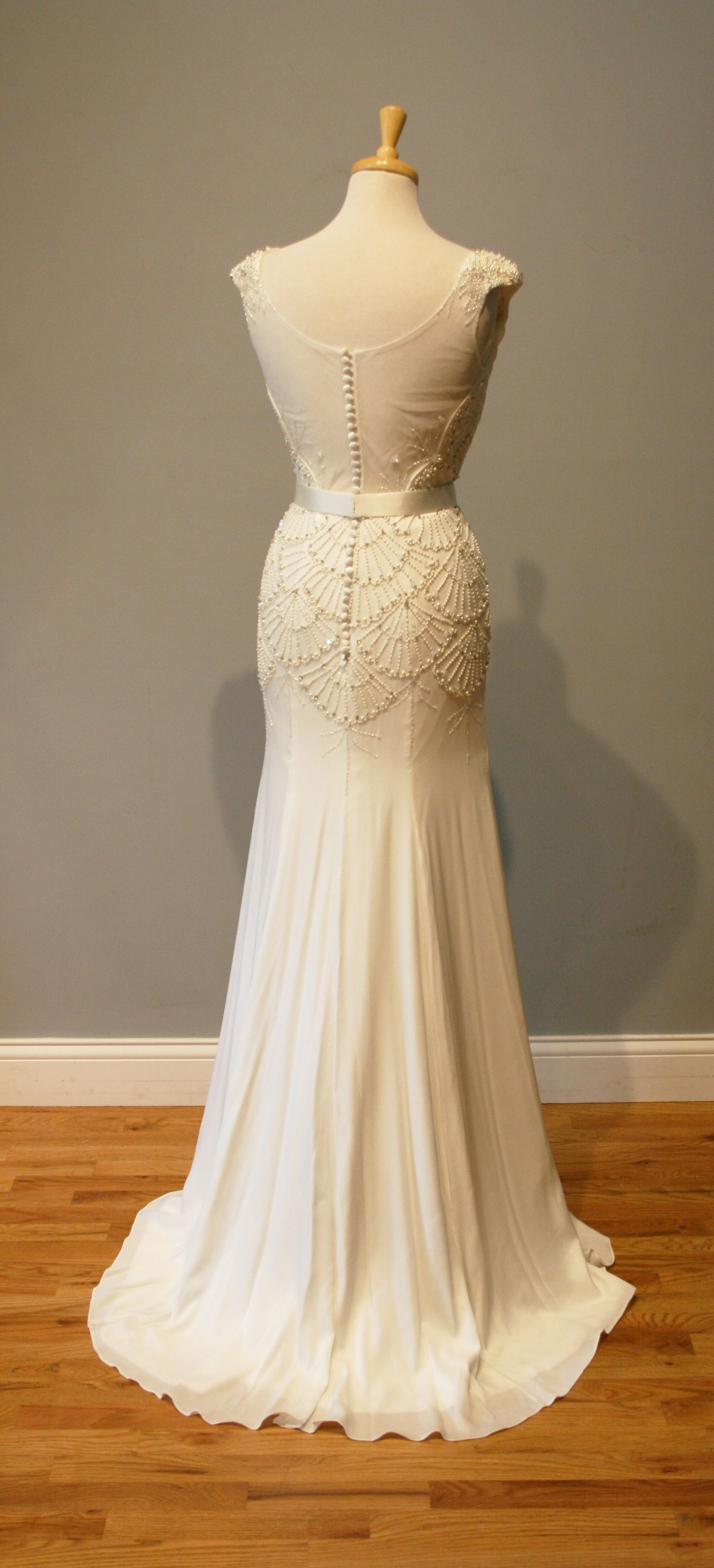 Brittany S Beautiful Scallop Beaded Vintage Style Wedding Dress Avail Company Llc Perfect For