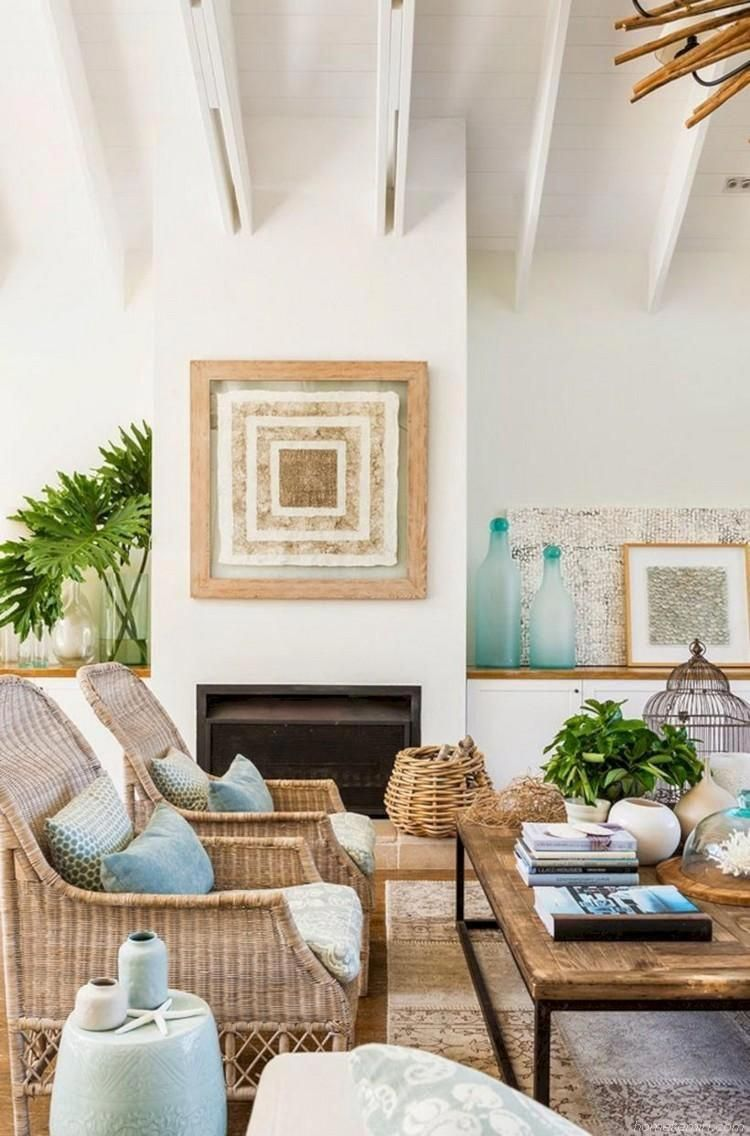 45 beach coastal style living room inspirations rh pinterest com