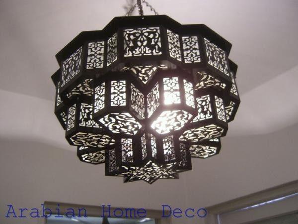 Middle Eastern Moroccan Brass Chandelier Lighting Lamp Moroccan Chandelier Brass Chandelier Ceiling Lights