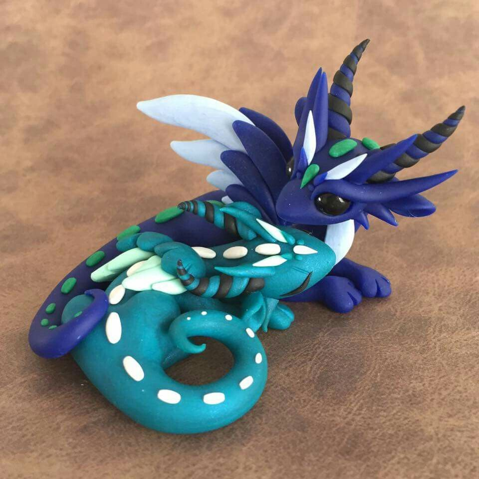 how to make dragon scales in clay