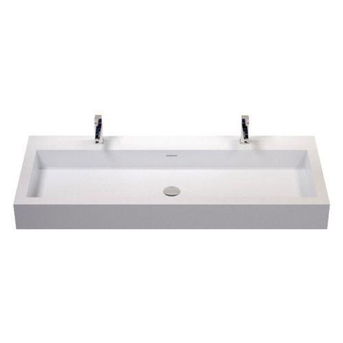Badeloft Stone Resin Wall Mounted Sink White Glossy Extra Large
