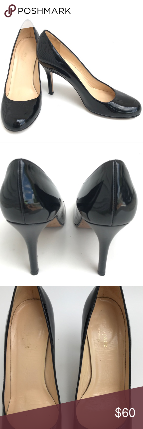 8607a51b0105 Kate Spade Karolina classic patent leather narrow Classic black patent  leather Karolina pump by Kate Spade