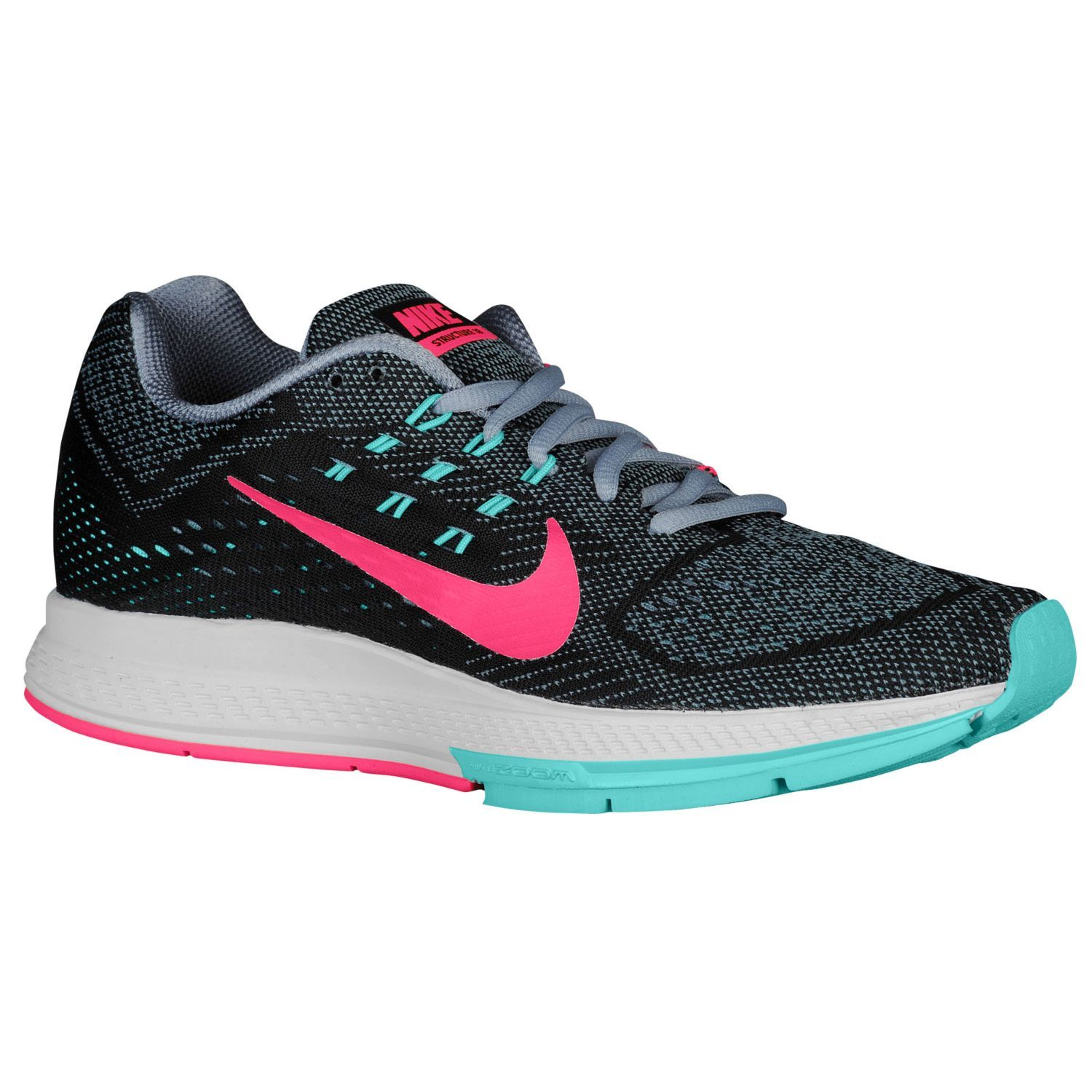 Nike Zoom Structure 18 - Women's - Running - Shoes - Magnet Grey/Black/