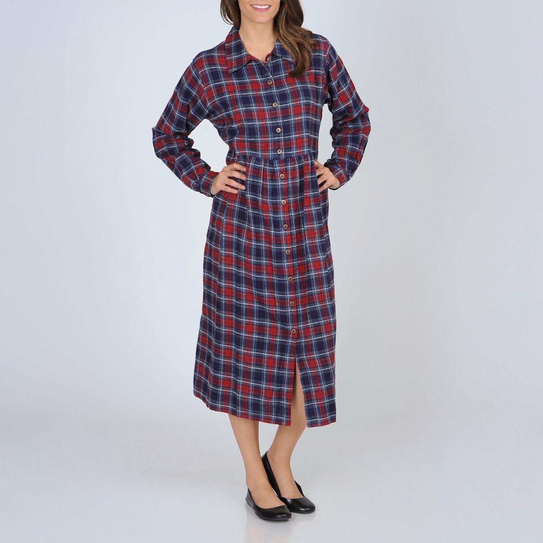 Flannel dress womens  La Cera Womenus Buttonfront Dress  Products  Pinterest  Plaid