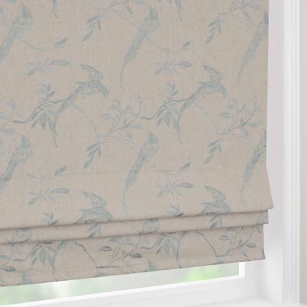Duck Egg Songbird Blackout Roman Blinds For Bedroom 163 70