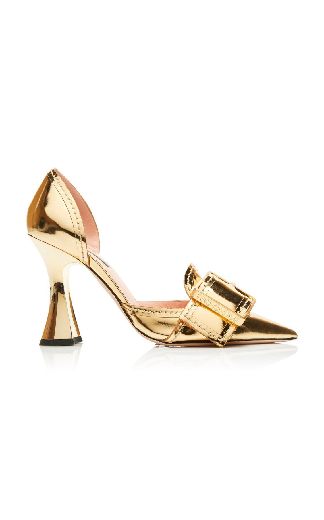 e18e84bd50 Gold Buckle Pumps by Rochas SS19   Accessories in 2019   Shoes ...