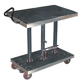 vestil stainless steel hydraulic post lift tables standing rh pinterest com
