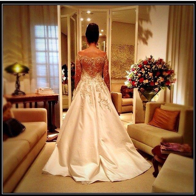 Linda Amanda Com Vestido Paulo Dolce Na Nossa Prova Final No Clic Perfeito Da Querida Wedding Dressbrides