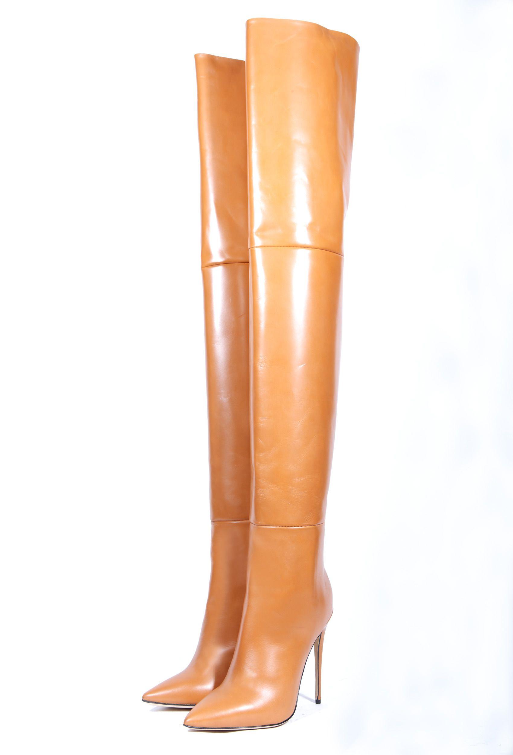 ALINA70 tan | Overknees in 2019 | Oberschenkel hohe stiefel