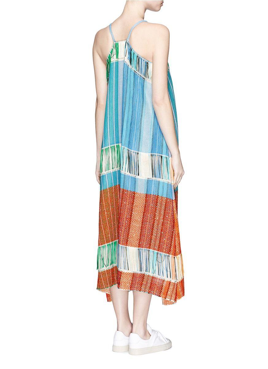PORTS 1961 - Fringe jacquard knit halterneck dress   Multi-colour Resort Dresses   Womenswear   Lane Crawford - Shop Designer Brands Online