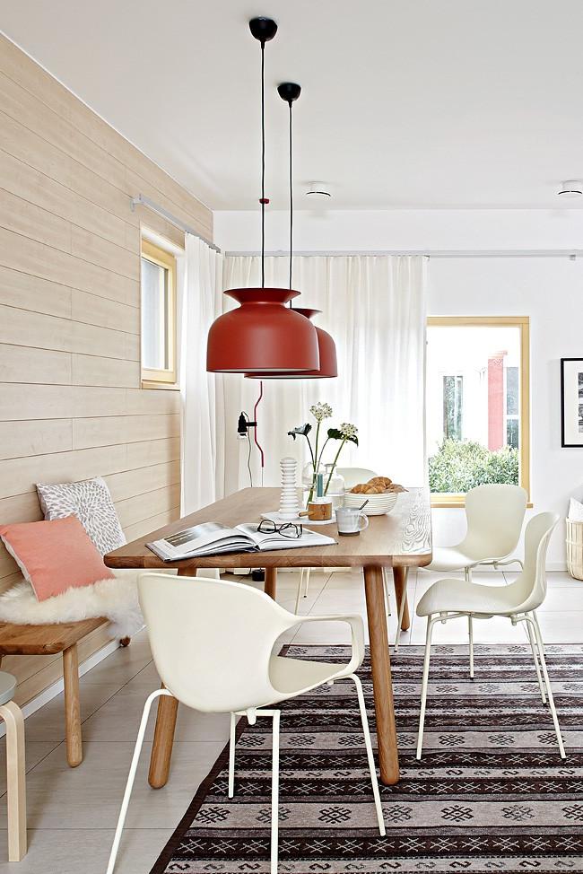 Essplatz Mit Farbiger Hangeleuchte Betonen Bild 17 Esszimmer Klein Trautes Heim Haus Deko