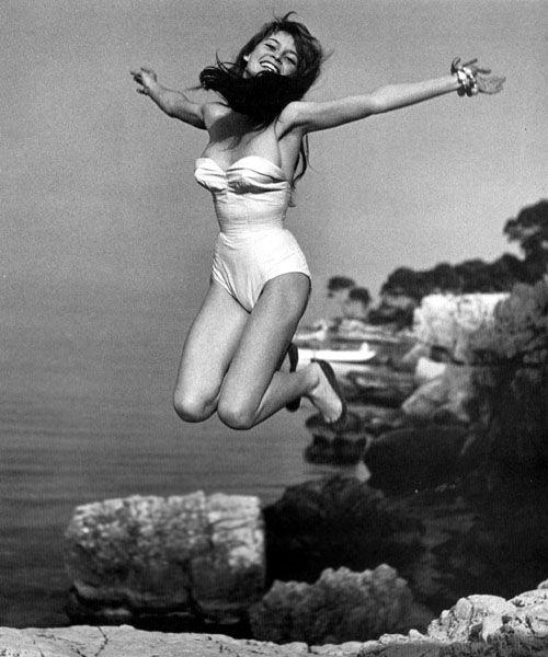 Brigitte Bardot, Saint-Tropez, circa 1950's  Photographer: Philippe Halsman