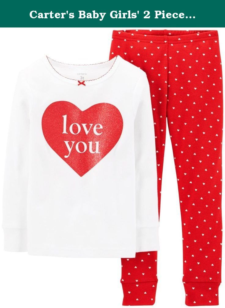 7d9bcf065e93 Carter s Baby Girls  2 Piece Holiday PJ Set (Baby) - Love You ...