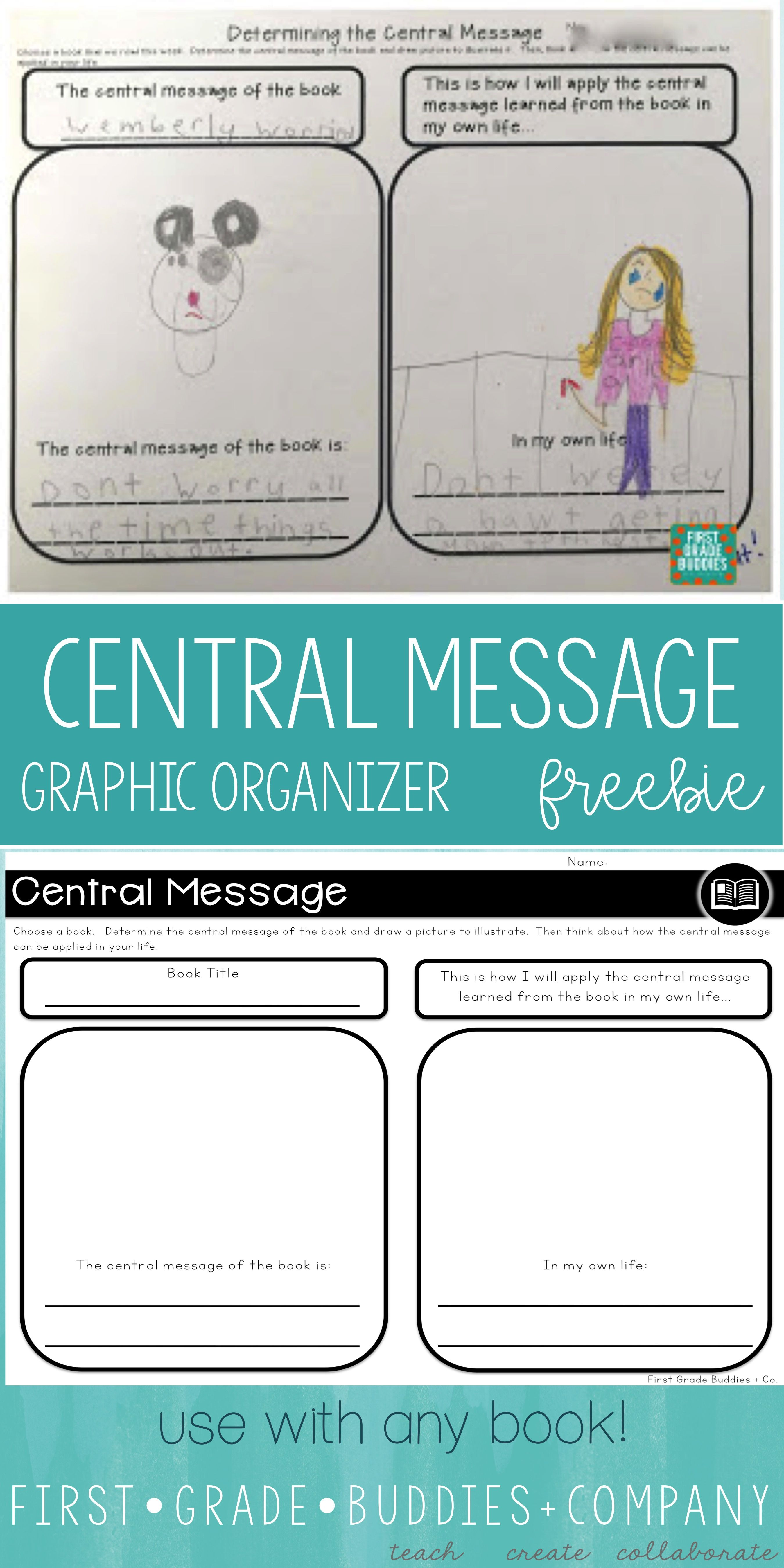 First Grade Buddies: Graphic Organizers for ANY Book! We created one great  big FREE reso…   Reading graphic organizers [ 5399 x 2699 Pixel ]