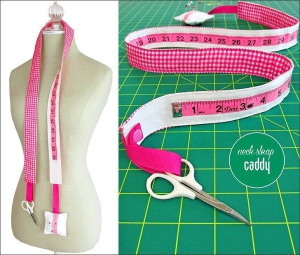 tutorial: Measuring tape neck strap caddy #sewingbeginner