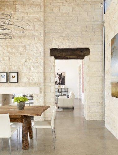 love the exposed brick modern dining room by 3 fold design studio rh pinterest at