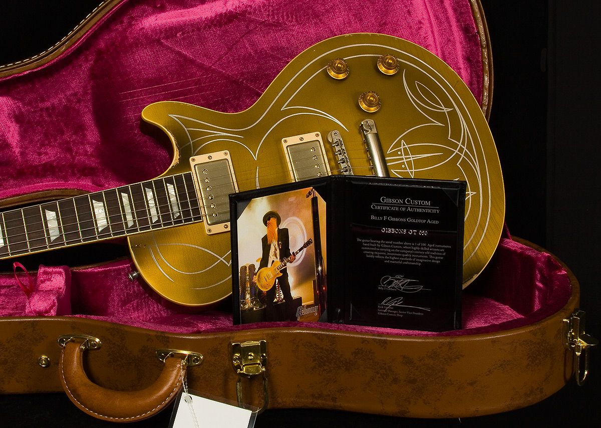 Billy Gibbons 1957 Pinstripe Les Paul Goldtop Aged | Artist | Gibson Custom Shop | Electrics | Wildwood Guitars