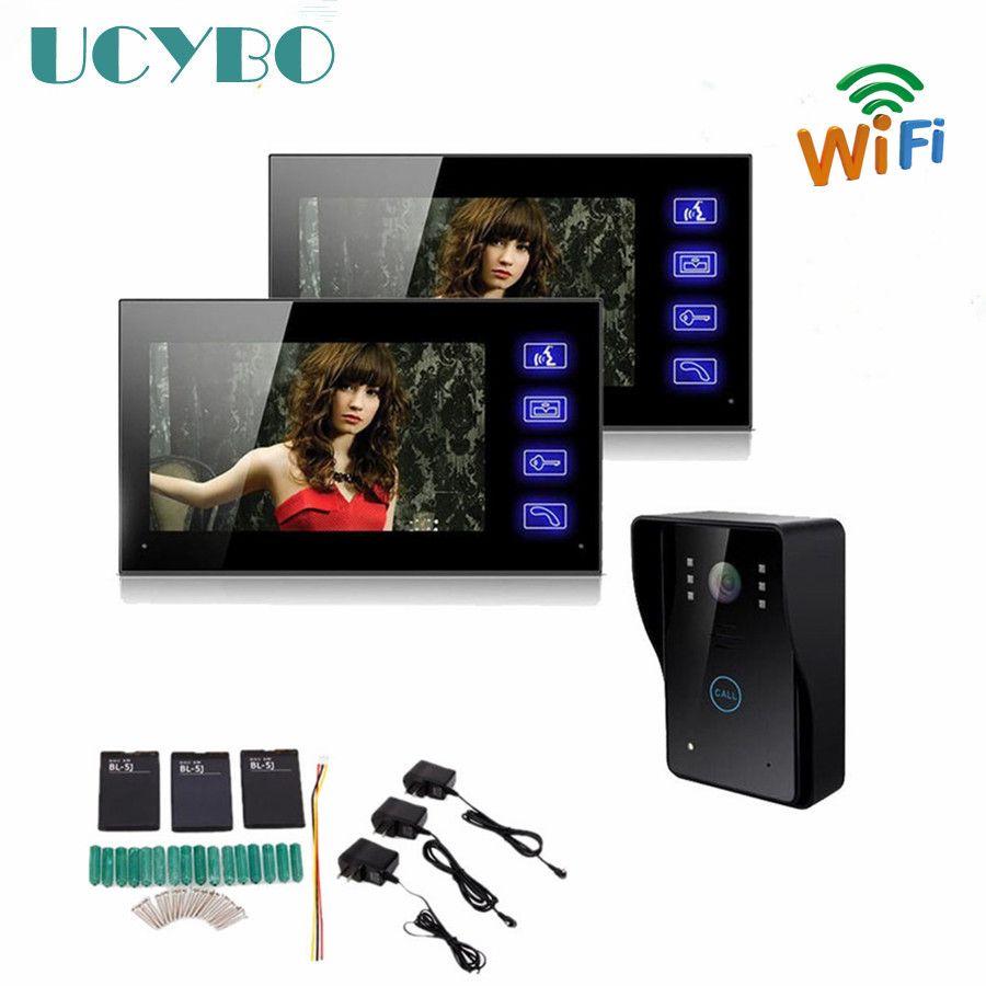 """günstige touch taste 7 """"wifi wireless home video türsprechanlage"""