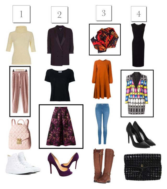 """""""styling patterned throwbacks"""" by chicroundcurves on Polyvore featuring Odeeh, Roland Mouret, George, Alexander Wang, Frame Denim, Naturalizer, Christian Louboutin, WithChic, Love Moschino and Miss Selfridge"""