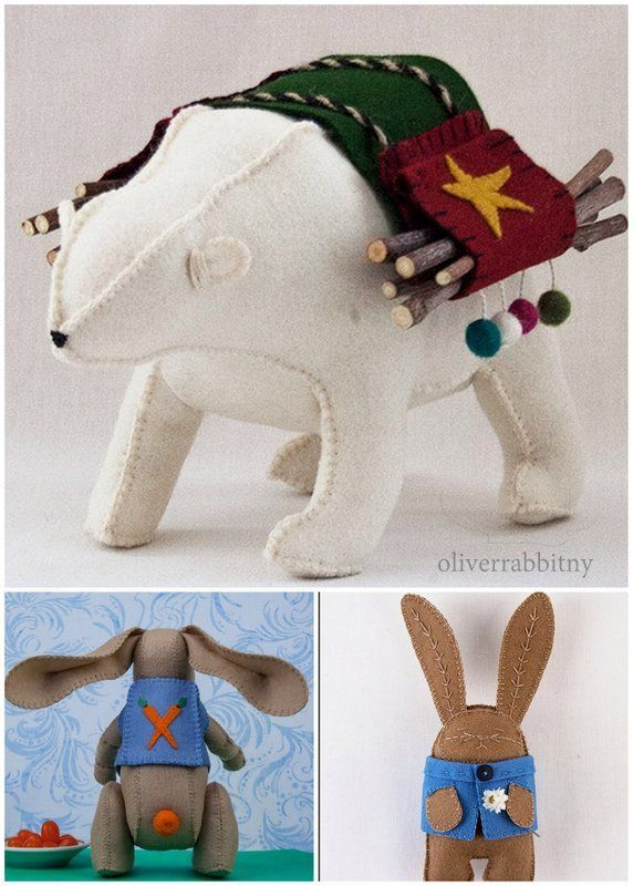 Featured Artist in thepatternhub.com: Oliver Rabbit Felt sewing ...
