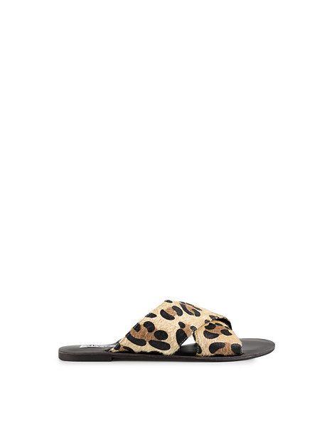 Flat Criss Cross Sandal - Nly Shoes - Leopard - Chaussures Pour Tous Les  Jours -