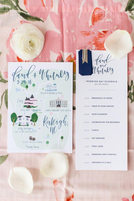 Custom Wedding Map Custom Wedding Map