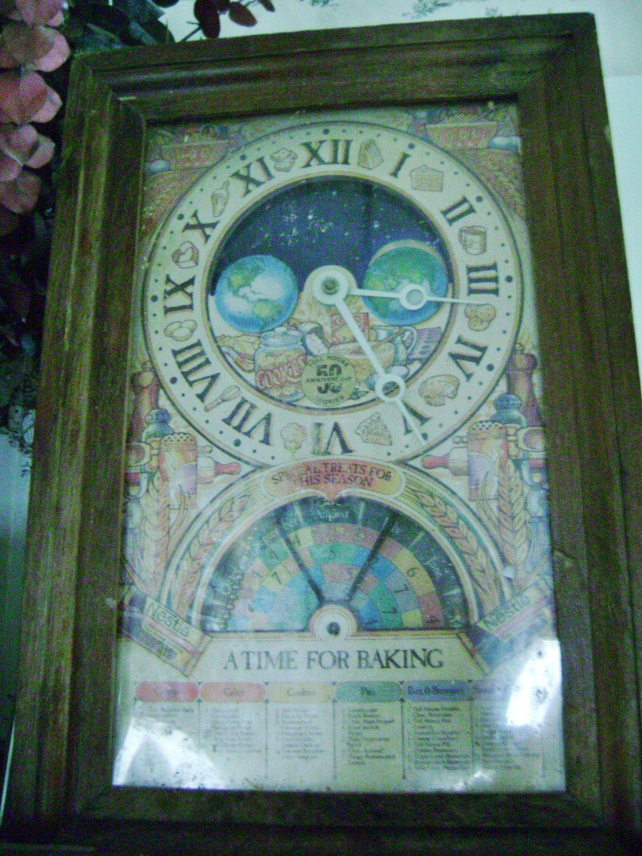 vintage NESTLE TIME to BAKE anniversary clock vintage kitchen clock ...