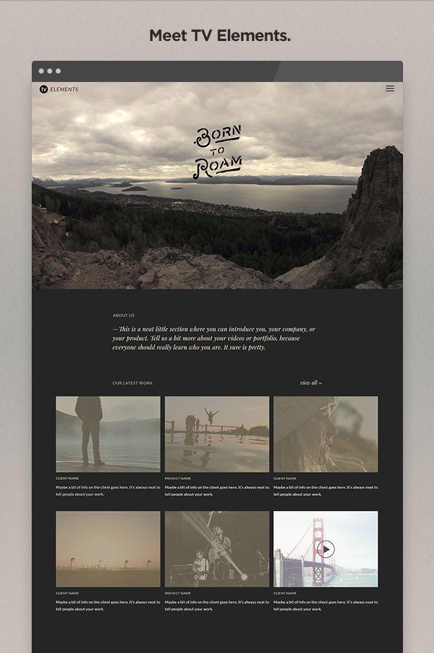 TV Elements Video WordPress Theme for Videographers