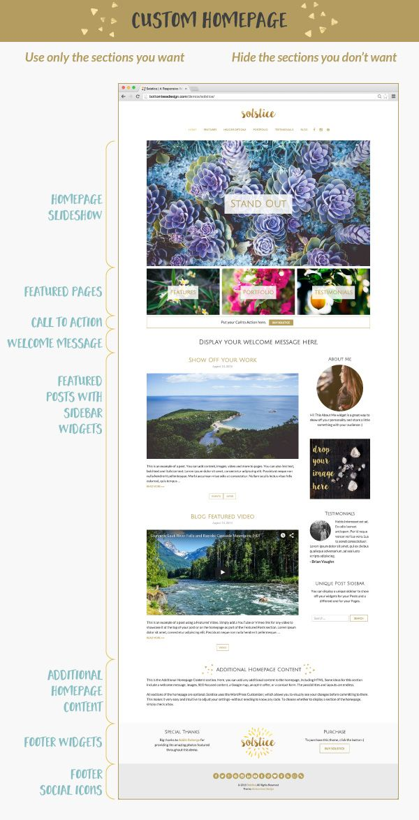 Solstice » A Responsive WordPress Theme for Blogging and Business +